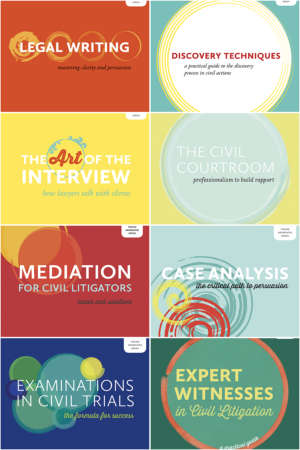 Collage image of eight books in Irwin Law's Young Advocates Series books, written by John Hollander.